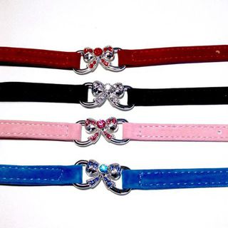Bling Bow Knot Cat Collar