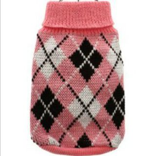 Argyle Sweater, Pink