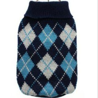 Argyle Sweater, Blue