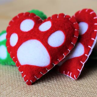 Pawprint Heart Decoration